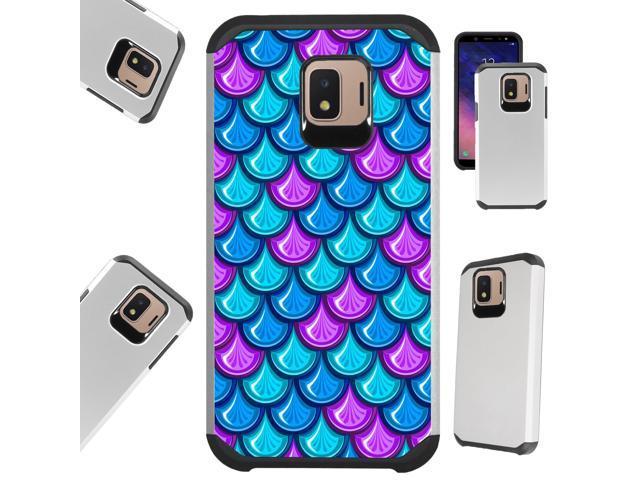 Compatible Samsung Galaxy J2 Core | J2 Shine | J2 Dash | J2 Pure | J2 Pro |  J2 (2018) Case Hybrid TPU Fusion Phone Cover (Mermaid Teal) - Newegg com