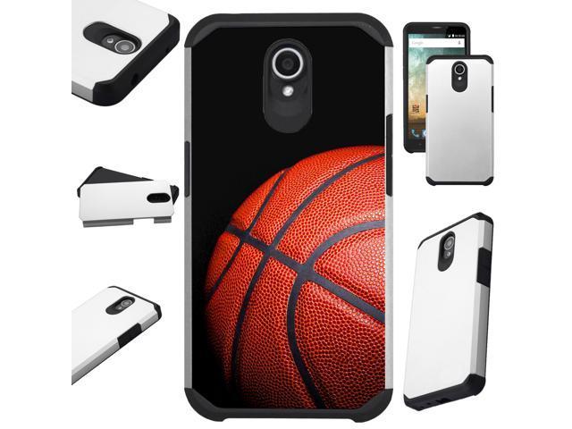 Compatible Alcatel idealXTRA   1X Evolve (2018)   TCL LX Phone Case Hybrid  TPU Fusion Cover (Basketball) - Newegg com