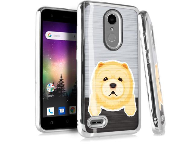 Compatible LG Rebel 4 | Rebel 3 | Rebel 2 Case Electroplated Chrome TPU  Brushed Textured Hybrid Phone Cover (Cute Dog Chow Chow) - Newegg com