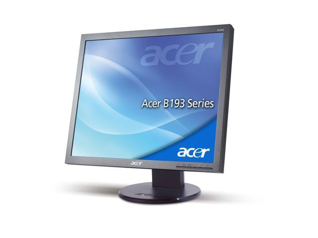"""Acer B193 19/"""" LCD Monitor w// internal speakers /& cables VGA Power cord Free Ship"""
