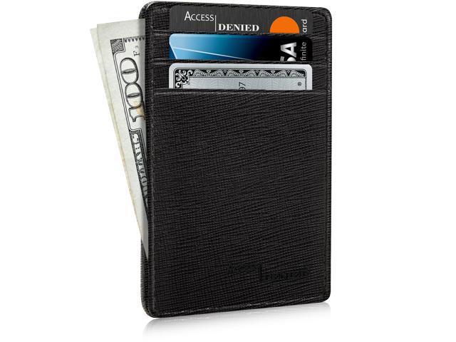 b1692be7d20b Slim Minimalist Wallets for Men & Women - Front Pocket Wallet RFID Blocking  Card Holder - Newegg.com