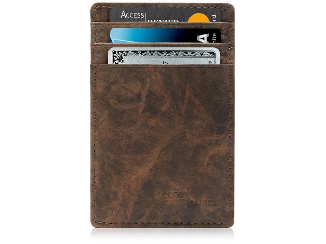 1839b4ed0666 Slim Minimalist Wallets for Men & Women - Front Pocket Wallet RFID Blocking  Card Holder - Newegg.com