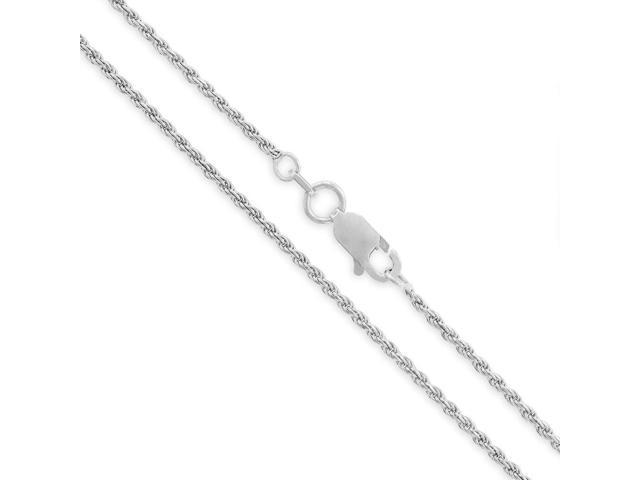 Sterling Silver Diamond Cut High Polished 1.5mm Italian Twisted Rope Chain Necklace 16-30