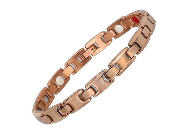 e7e0c9fd5716 AutofeelSunriseoffice A par hombres mujeres sanas pulseras magnéticas oro  plateado titanio potencia acero terapia imanes pulseras amantes regalo ...