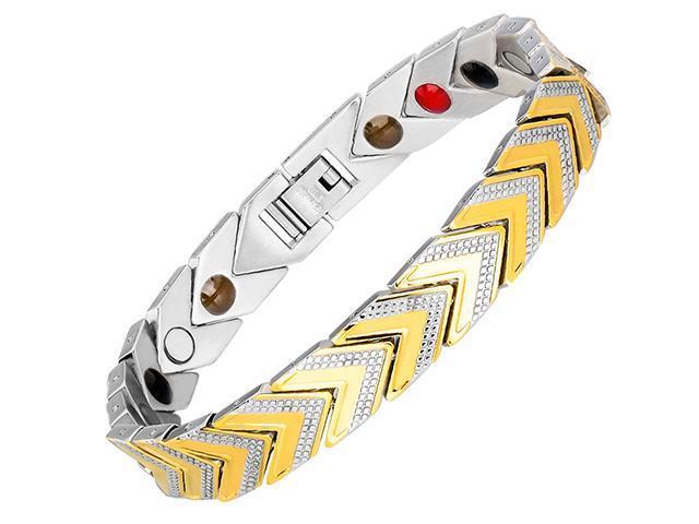 ef0c352eb014 AutofeelSunriseoffice moda hombre mujer cuidado sano brazalete magnético  titanio potencia acero terapia imanes pulseras amantes regalo alivio del ...