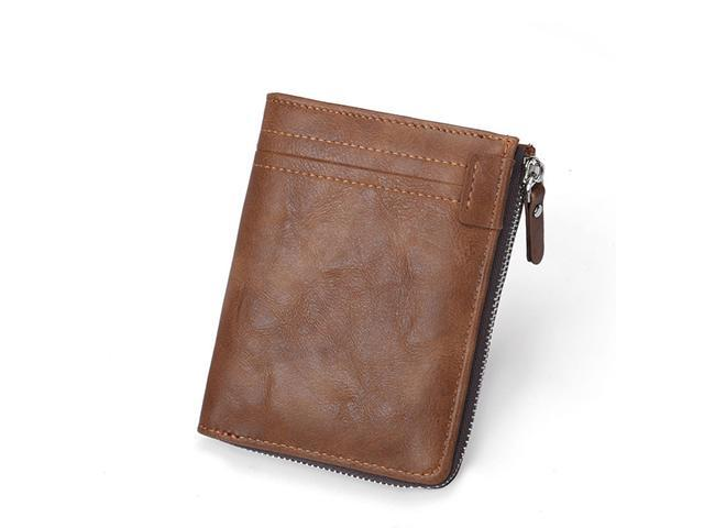 Leather Small ID Credit Card Men/'s Business Slim Wallet Coin Holder Pocket Case