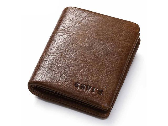 AutofeelSunriseoffice Casual Men Women RFID Blocking Top Leather Wallet  Multi Card Holder Slim Front Pocket Purses Male Mini Money Purse Anti-theft