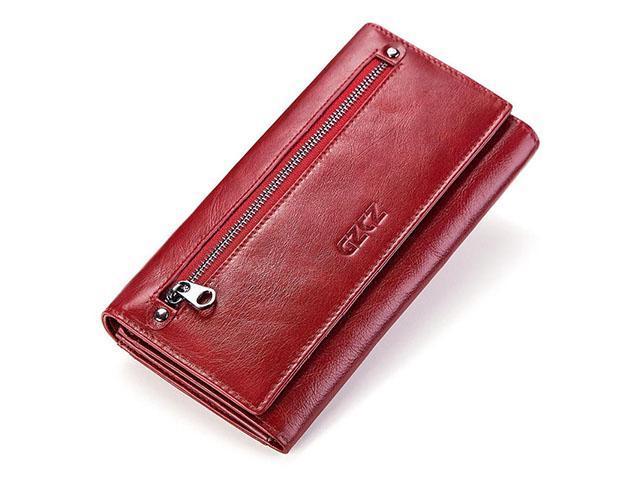 40897d4b391f AutofeelSunriseoffice Women RFID Blocking Ultra Slim Real Leather Wallet  Clutch Wallets Female Money Coins Purse Long Zipper Card Holder Purses - ...