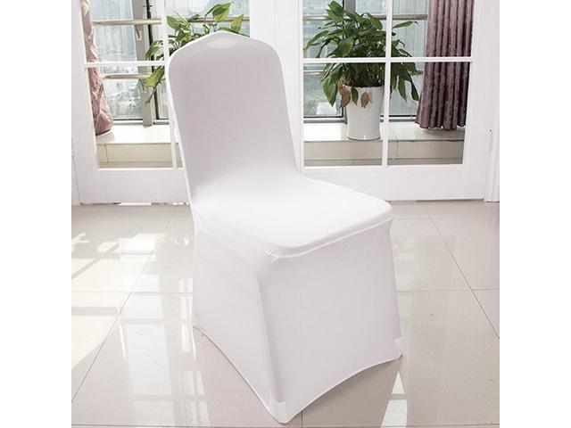 Astounding White Stretch Spandex Chair Covers Wedding Universal 100 Pcs Banquet Wedding Party Dining Decoration Scuba Elastic Chair Covers White 100 Ibusinesslaw Wood Chair Design Ideas Ibusinesslaworg