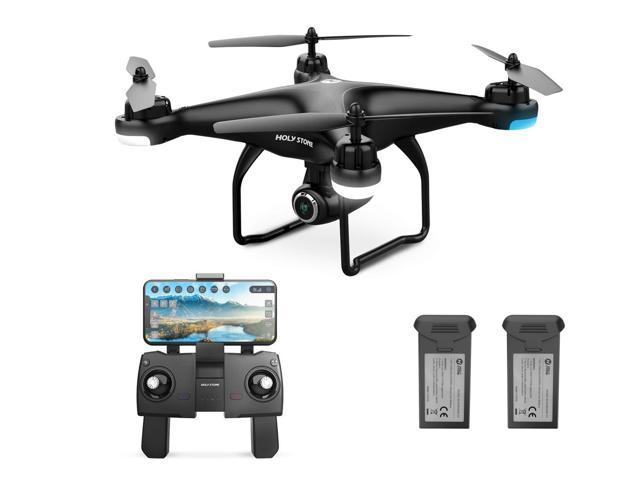 Holy Stone - HS120D Wi-Fi FPV Drone with 1080P Camera and GPS, Tap Fly  Function, Black (Bonus Battery Version) - Newegg com