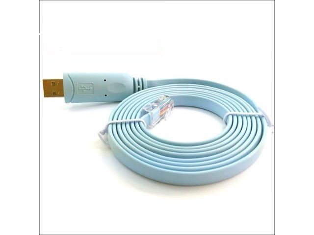 FTDI USB Port to RJ45 Male Console Cable Rollover Cable for Cisco Routers,3.6m USB to RJ45: 1FT