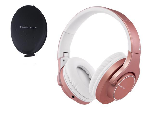 Powerlocus Ptouch Wireless Bluetooth Headphones Over Ear 30 Hour Of Playtime Touch Control Pad Wireless And Wired Headset With Microphone For Iphone Android Laptops Pc Tablet Rose Gold Newegg Com