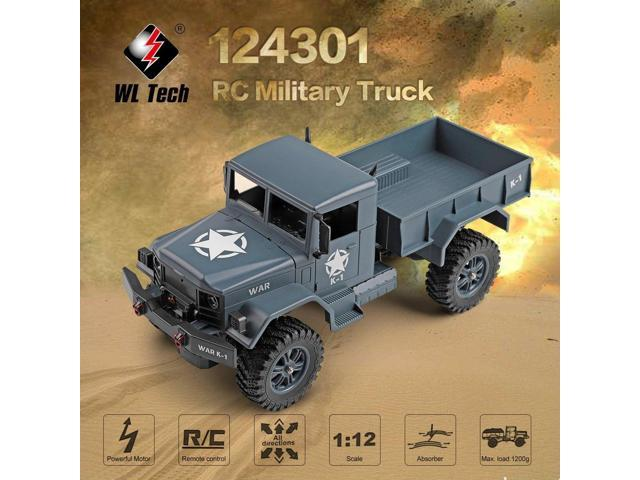 WLtoys 124301 2 4Ghz 1/12 4WD Off-road RC Military Truck Vehicle RC Car  Remote Control for Kids Children Toy Gift Present - Newegg com