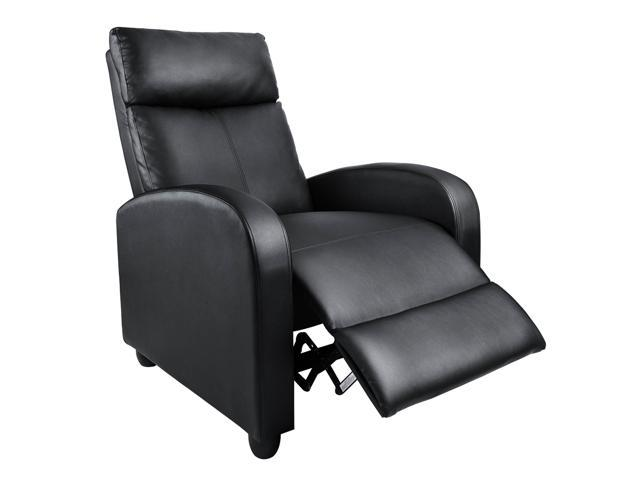Stupendous Homall Single Recliner Chair Padded Seat Black Pu Leather Living Room Modern Home Theater Seating Black Ibusinesslaw Wood Chair Design Ideas Ibusinesslaworg