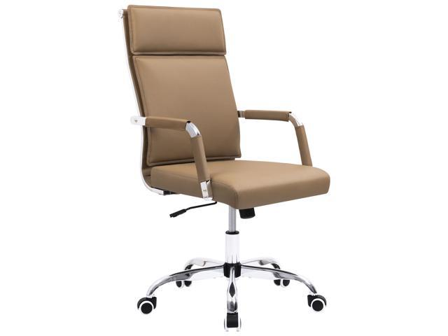 Homall Office Chair Mid-Back Computer Chair Modern Desk Chair PU Leather  Executive Swivel Task Chair (Brown)