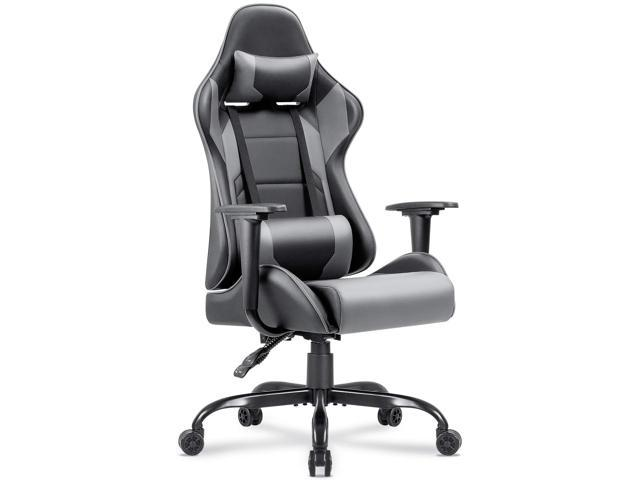 Groovy Homall Gaming Chair Pu Leather Racing Style Seat Gaming Chairs With Headrest Cushion And Lumbar Support Cushion Grey Caraccident5 Cool Chair Designs And Ideas Caraccident5Info