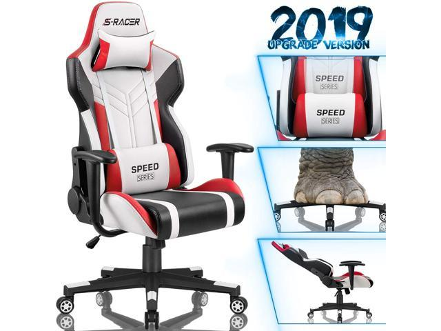 Tremendous Homall Gaming Chair Racing Style High Back Pu Leather Office Chair Computer Desk Chair Executive And Ergonomic Swivel Chair With Headrest And Lumbar Andrewgaddart Wooden Chair Designs For Living Room Andrewgaddartcom