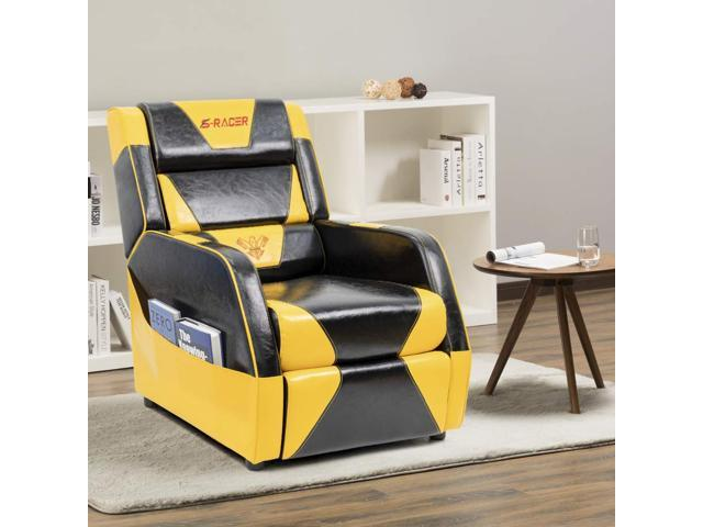 Tremendous Homall Gaming Recliner Chair Living Room Sofa Single Recliner Pu Leather Recliner Seat Home Theater Seating With Removable Cushions Sracer Yellow Ncnpc Chair Design For Home Ncnpcorg