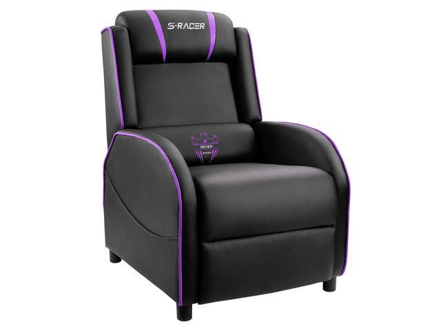 Marvelous Homall Gaming Recliner Chair Single Living Room Sofa Recliner Black Pu Leather Recliner Seat Purple Black Ncnpc Chair Design For Home Ncnpcorg