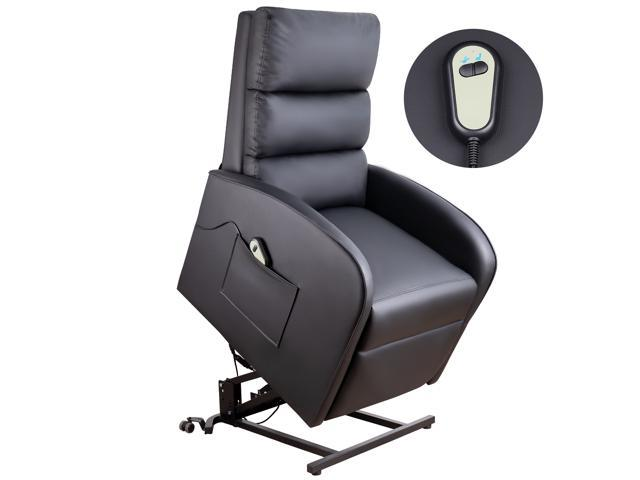 Wondrous Homall Electric Power Lift Recliner Chair Sofa Pu Leather Home Recliner For Elderly Classic Lounge Chair Living Room Chair With Safety Motion Spiritservingveterans Wood Chair Design Ideas Spiritservingveteransorg