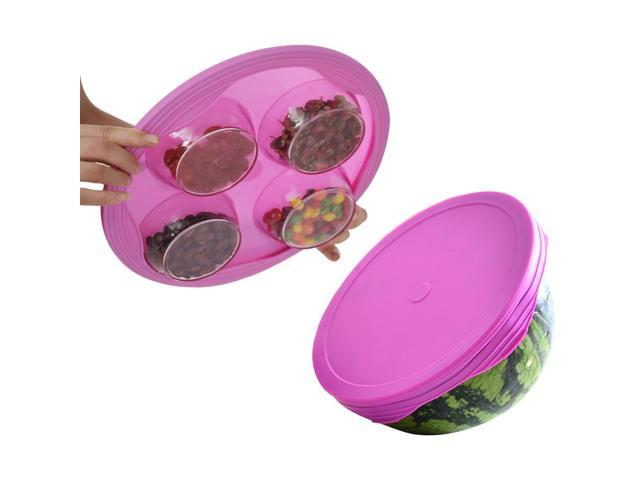 5f6f62a0c931 Sello de silicona-recipiente plegable elástico frasco sello cubierta para  tapa de succión de un almacenamiento seguro de alimentos tazones, ollas, ...