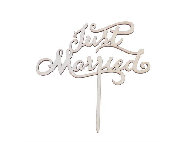 Wooden Cake Toppers Wedding Favors Just Married
