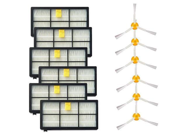 3 Side Brushes and HEPA Filters Replacement For iRobot Roomba 800 900  Series 805 860 870 871 880 890 960 980 Robotic Vacuum (6 Set) - Newegg com