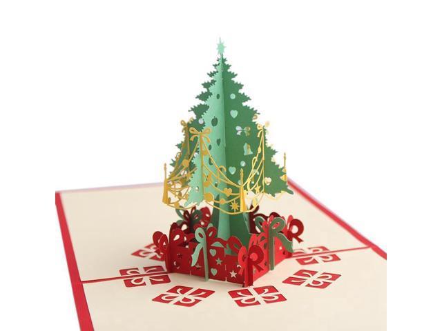 Pop Up Christmas Cards.Christmas Cards 3d Pop Up Christmas Tree Custom Greeting Cards Christmas Gifts Souvenirs Postcards Newegg Com