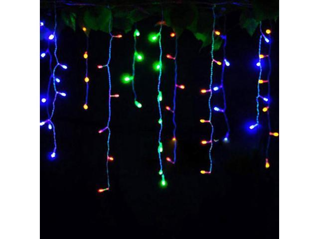 Rgb Led Christmas Lights.Led Christmas Lights Outdoor Decoration Lights 3 5m Led Curtain Icicle String Lights Rgb 110v Us Plug Newegg Com