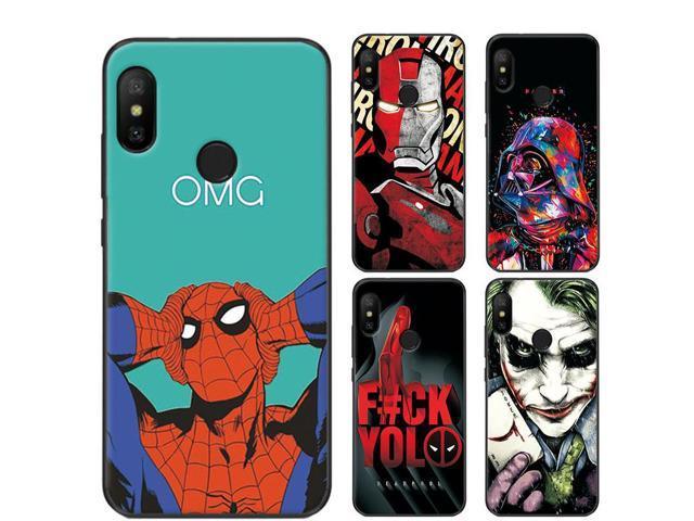 size 40 06056 b0633 adlucky Iron Man The Avengers Phone Case For Xiaomi Mi A2 lite Charming  Spiderman MiA2 lite Cover Case For Xiaomi Mi A2 lite - Newegg.com
