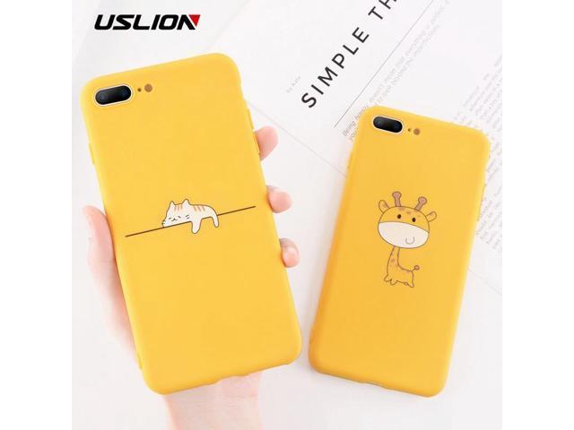 Uslion Funny Cartoon Giraffe Phone Case For Iphone 7 8