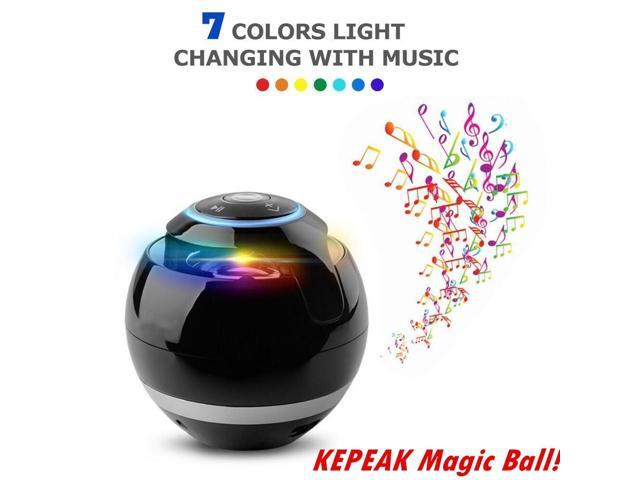 2018 New Bluetooth Speaker Colors LED Lights Wireless Portable Subwoofer  With Mic FM - Newegg com