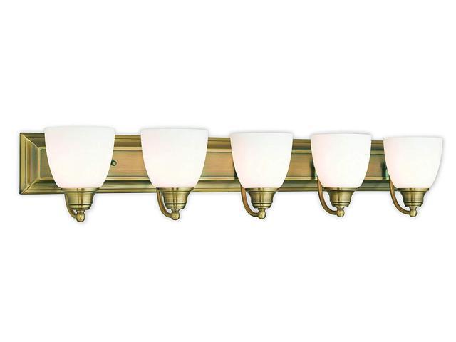 Livex Lighting 10505-01 Antique Brass Bath Vanity With