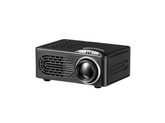 b64560888d5e44 814 Portable Mini Household LED Projector, 1080P HD Micro Home Theater LCD  Projector black/