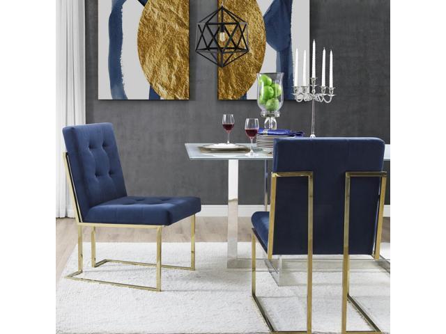 Rockefellar Navy Blue Velvet Dining