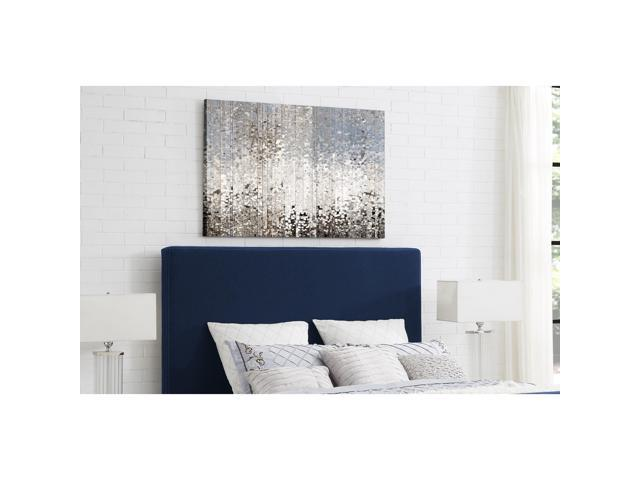 Montgomery Blue Linen Tufted Headboard Queen Size Upholstered Modern And Contemporary Inspired Home Newegg Com