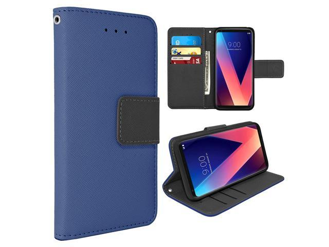 finest selection 77f16 992f6 LG V30 Leather Wallet Pouch Case Cover Blue - Newegg.ca