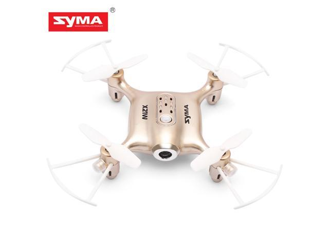 Syma X21W Mini RC Drone with Camera Live Video, 2.4GHz 6-Axis Gyro FPV WiFi App Controlled LED Quadcopter Drone for Kids & Beginners with 3D Flips, Headless Mode, Altitude Hold,Gold
