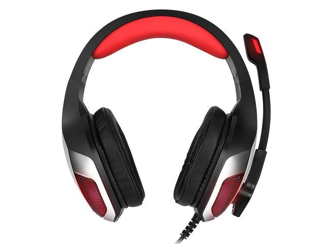 Hunterspider V 4 3 5mm Headsets Bass Gaming Headphones With Mic Led Light For Mobile Phone Pc Xbox Pc Laptop Newegg Com