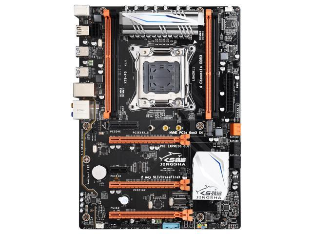Jingsha X79P3 ATX Motherboard Supports AMD Crossfire 3* PCIE 3 0 x16  Supports CPU E5 E5V2 2697V2 2680V2 LGA2011 Core I7 M 2 SSD Socket -  Newegg com