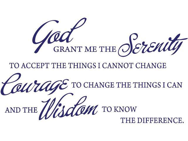 It is a graphic of Printable Serenity Prayer intended for cursive