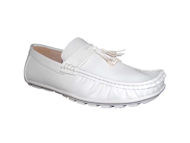 Men Slip on Loafer Leather Shoes Pumps Fur Inside Winter Driving Moccasins