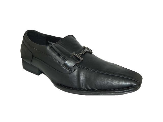 KRAZY SHOE ARTISTS Leather Lined Men's Black Loafer
