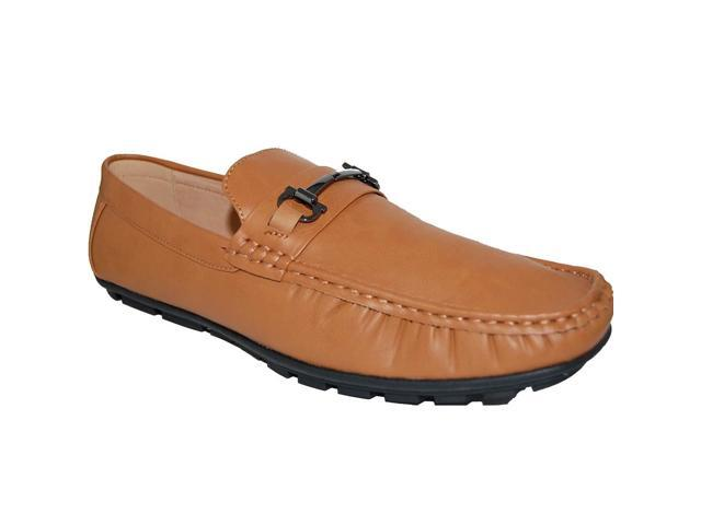 133807f9df16b KRAZY SHOE ARTISTS Leather Lined Uppers Men's Camel Fashion Driving Shoes -  Newegg.com
