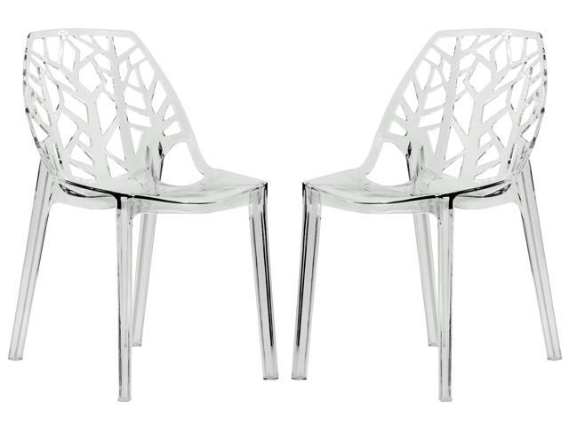 Astonishing Leisuremod Cornelia Cut Out Design Modern Dining Side Chair In Clear Set Of 2 Newegg Com Ocoug Best Dining Table And Chair Ideas Images Ocougorg