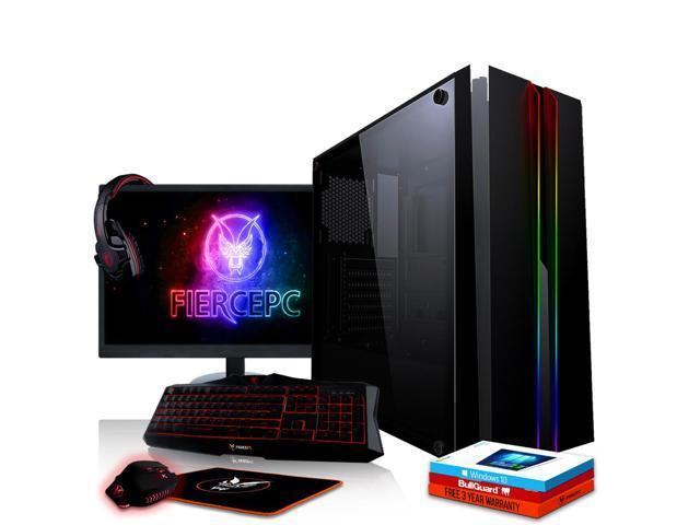 Fierce CHEETAH Gaming PC, Fast Intel Core i7 8700K 4 5GHz, 1TB SSHD, 16GB  RAM, GTX 1060 6GB, Windows 10 Installed, Keyboard and Mouse, 24-Inch