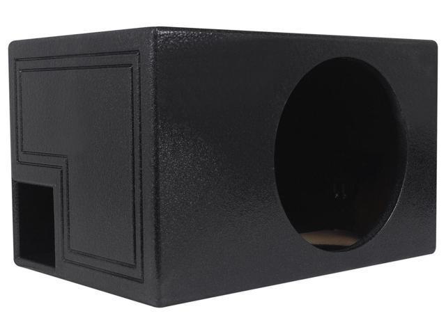 "Rockville RQB12 12/"" QBOMB Vented Sub Enclosure Box Bedliner Finish 1.8 Cu Ft"