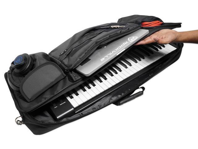 Rockville Carry Bag Case For Yamaha MX49BU Keyboard Controller