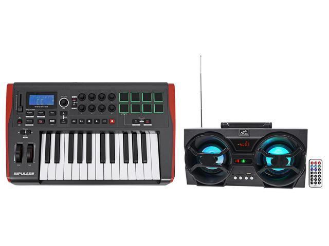 Novation IMPULSE 25 Ableton Live 25-Key MIDI USB Keyboard Controller +  Speaker - Newegg com