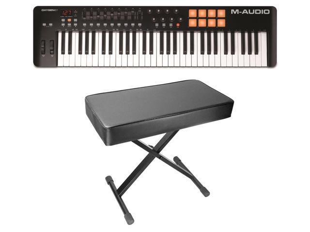 M-Audio Oxygen 61 MK IV 61-Key USB MIDI Keyboard Controller MKIV + Padded  Bench - Newegg com